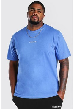 Blue Big And Tall MAN Official Print T-Shirt
