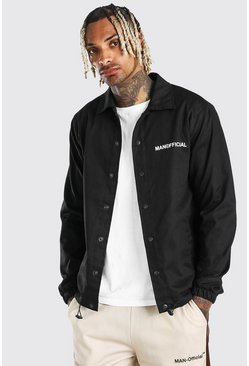 Black MAN Official Twill Coach Jacket