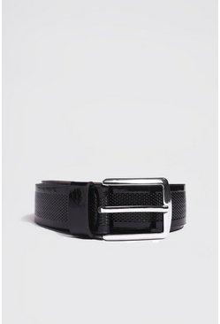 Black Patent Detail Belt