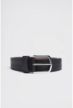 Black Stitch Detail Belt