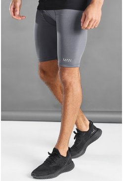Grey MAN Active Shorts With Waistband Detail