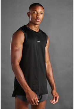 Black MAN Active Slim Fit Drop Armhole Tank