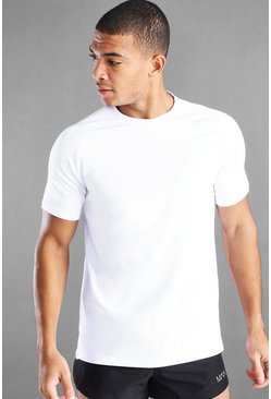 White MAN Active T-Shirt With Split Hem