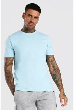 Pale blue Basic Crew Neck T-Shirt