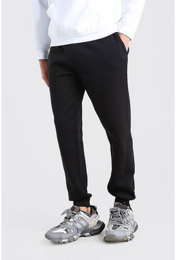 Black MAN Dash Embroidered Skinny Joggers