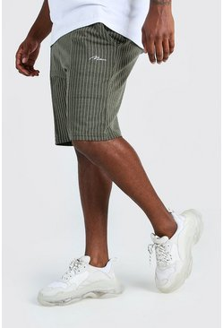 Short Big And Tall HOMME en jacquard à fines rayures, Kaki