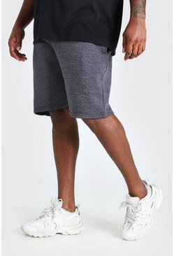 Charcoal Big And Tall Basic Mid Length Jersey Short