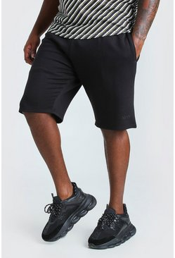 Black Big And Tall MAN Basketball Jersey Short