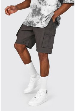Charcoal Mid Length Cargo Short