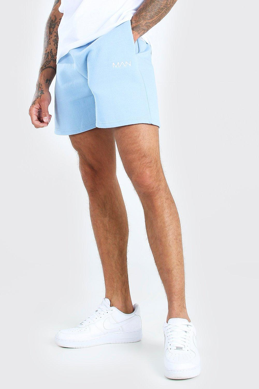 mens original man short length jersey short - blue