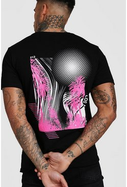 Black Los Angeles Palm Back Print T-Shirt