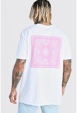 White MAN Signature Bandana Back Print T-Shirt