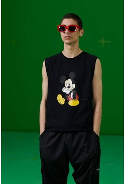 Black Disney Mickey Printed Tank