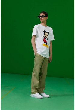 Camiseta con estampado de Mickey de Disney, Blanco