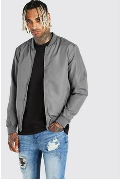 Grey Lightweight Bomber Jacket