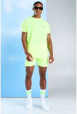 Yellow MAN Official T-Shirt & Nylon Short Set