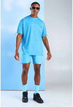 Blue MAN Official T-Shirt & Nylon Short Set