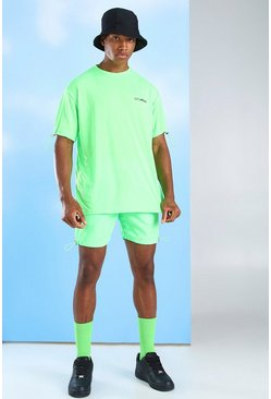 Green MAN Official T-Shirt & Nylon Short Set
