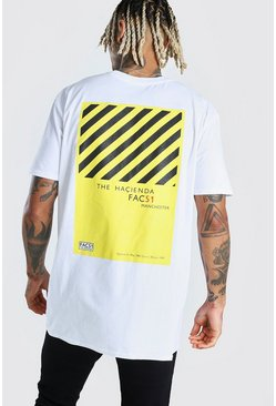 White Oversized Hacienda License Print T-Shirt