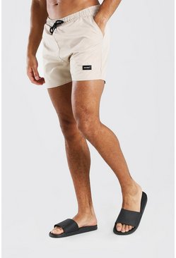 Stone MAN Official Mid Length Swim Shorts With Tab
