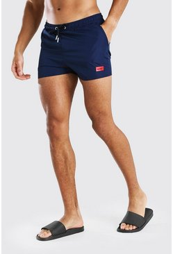 Navy MAN Official Short Length Swim Short With Tab