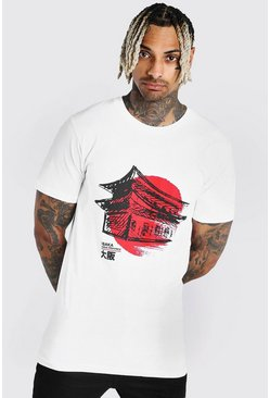 Japan Graphic Print T-Shirt, White