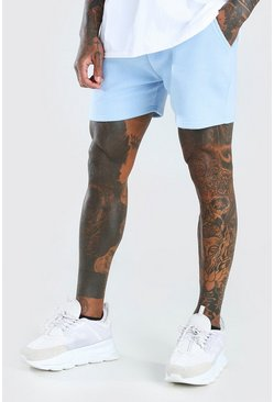Basic Short Length Jersey Short , Powder blue