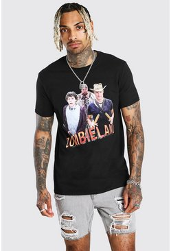 Black Zombieland License T-Shirt