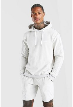 Stone MAN Velour Short Tracksuit With Piping