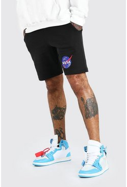 Black NASA Print License Short