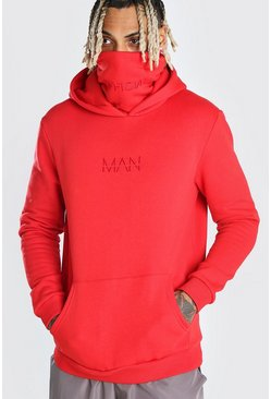 Red MAN Official Snood Hoodie