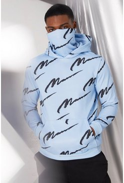 Sudadera con capucha All Over MAN, Azul