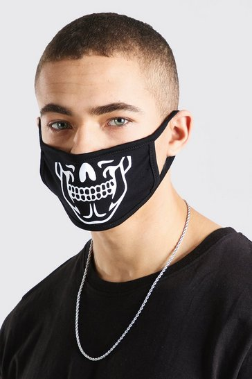 Black MAN Skeleton Fashion Mask