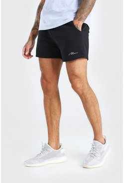 Black Man Signature Korta shorts i jersey