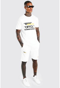 White Man Summer 2020 Printed T-Shirt & Short Set