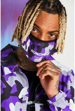 Purple Quavo Camo Print Fashion Mask