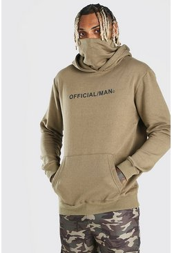 Khaki Man Official Snood Hoodie