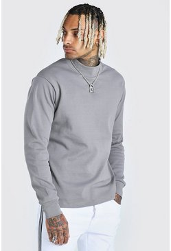 Charcoal Extended Neck Sweatshirt