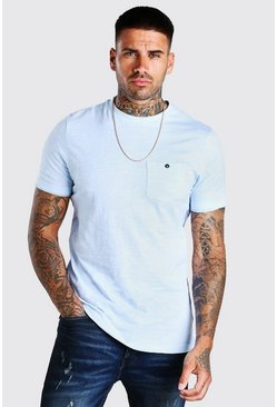 Pale blue Slub T-Shirt