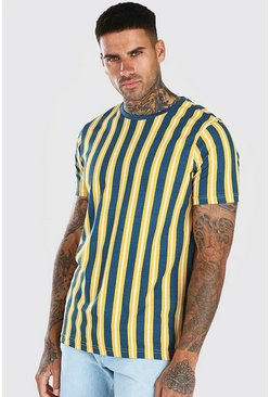 Mustard Diagonal Stripe T-Shirt