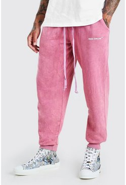 Mauve MAN Official Print Acid Wash Loose Fit Jogger
