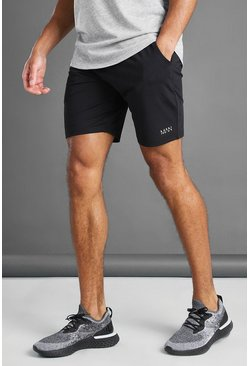 Black MAN Active Mid Length Shorts