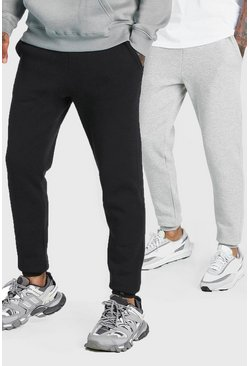 LOT DE 2 joggings coupe slim, Multi