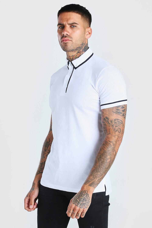 Surf Dude Boys Short Stripe Panelled Polo Shirt