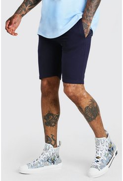 Navy Basic mellanlånga shorts i jersey