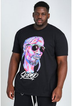 Big & Tall Snoop Shapes License T-Shirt, Black