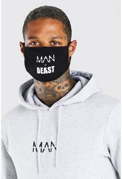 Black MAN X Beast Fashion mask