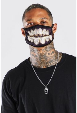 Gold Grillz Fashion Mask