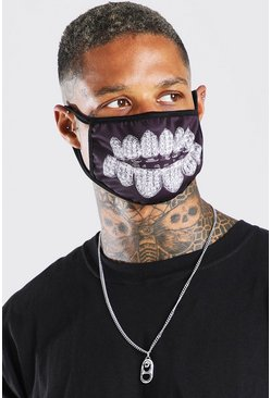 Silver Grillz Fashion Mask