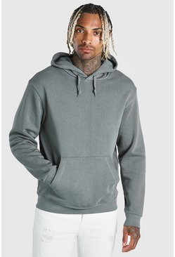 Light khaki Basic Over The Head Hoodie